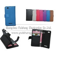 Wallet flip leather case for Sony Xperia M C1905