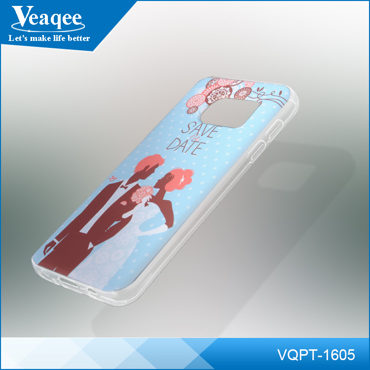 Veaqee for apple for iphone 6 slim transparent crystal clear PC hard and TPU case,pc tpu case