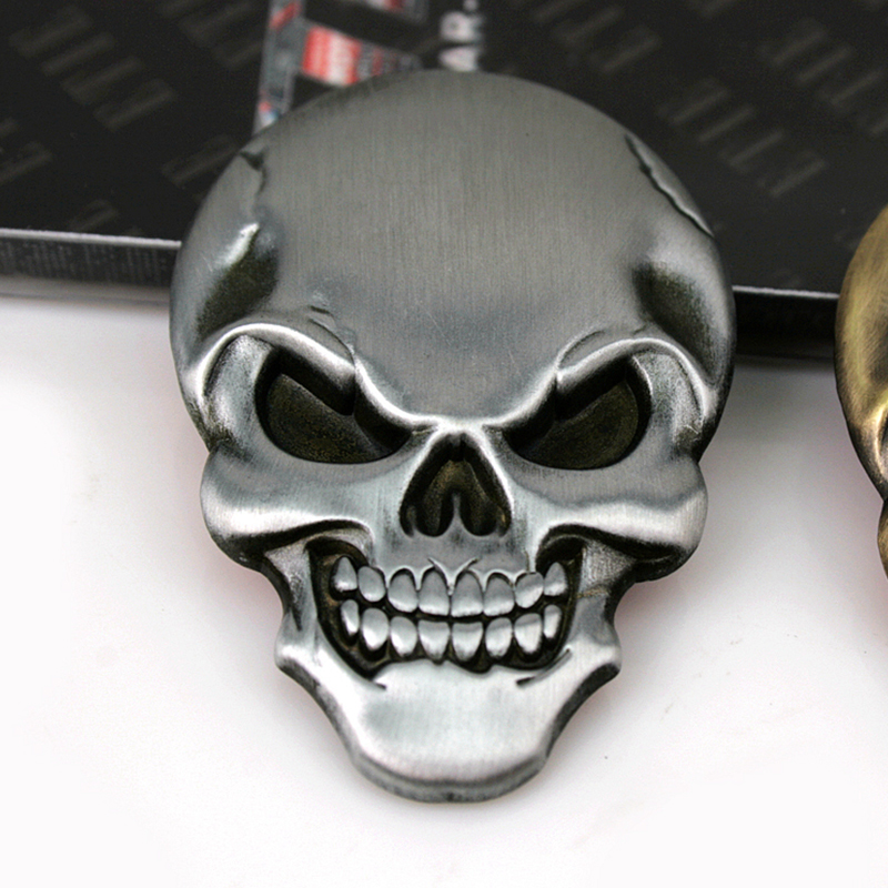 Cool 3D Skull and Car Logo Devil Custom Emblem for sell with best quality