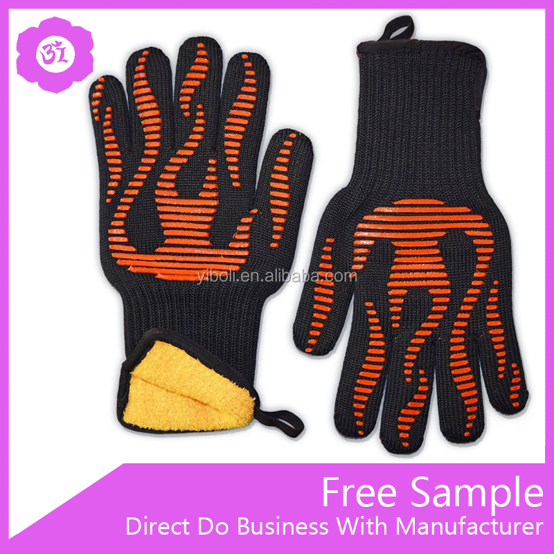 Food Grade Grilling BBQ Gloves Waterproof Silicone 932F Heat Resistant Cooking Oven Gloves