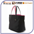 Blace and Rose red Dual Medium Nylon Tote bag