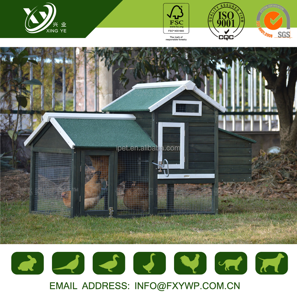 Promotion waterproof wooden chicken coop