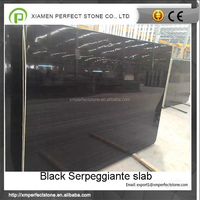 Black serpeggiante ancient wood marble stone big slab