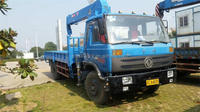 8 Ton truck with crane for sale made in China in good condition best price