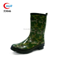 wholesale cheap adult rubber shoe camo men rain boots
