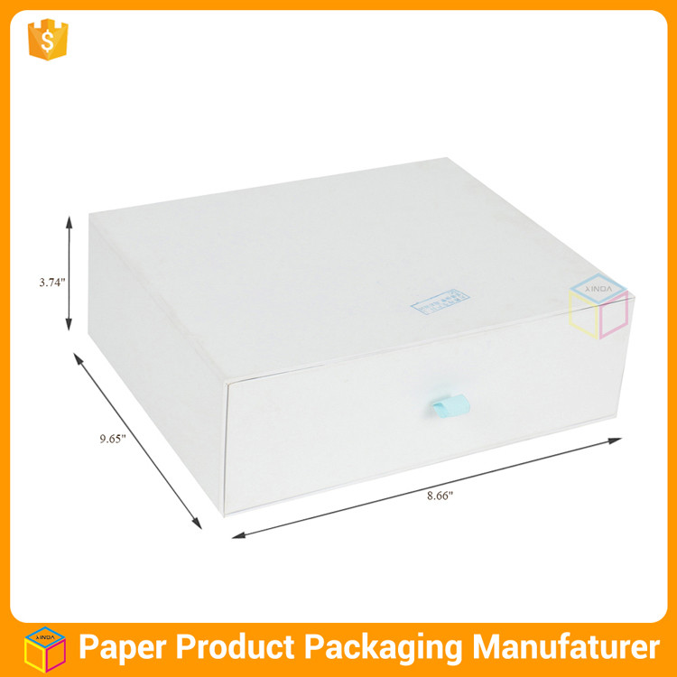 luxury drawer packaging sliding shoe box