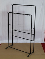 RH-YJ09 Black Leather Shelf Garment Rack