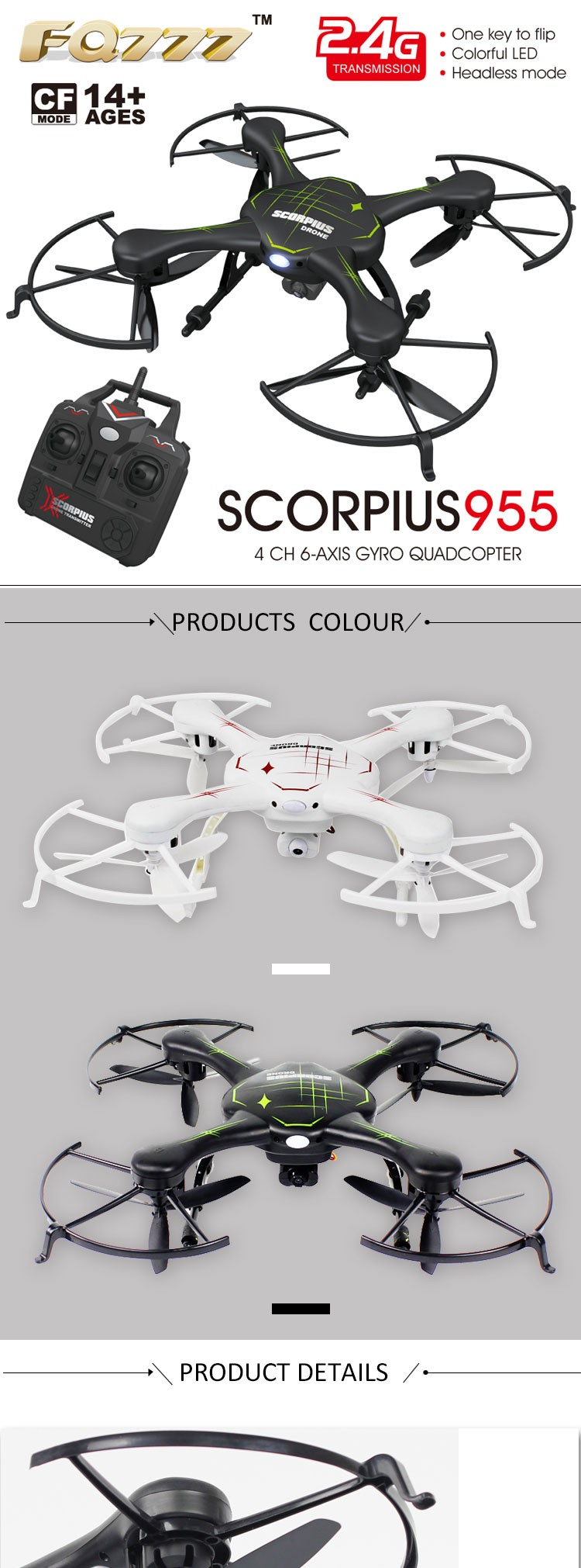 FQ777-955 Drone with HD Camera 720P Pixel