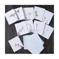 china style handmade paper greeting cards designs