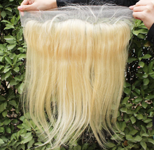 Wholesale price hot sale high quality silky straight wave brazilian human hair #613 blonde lace frontal 13x4