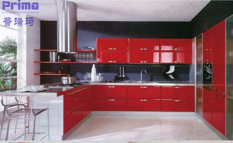 Rote küche hochglanz – Küchengestaltung kleine küche