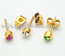 surgical steel fashion small daily wear latest ladies studex ear piercing