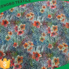 polyester scuba knit fabric textiles digital printing and burnout for apparel