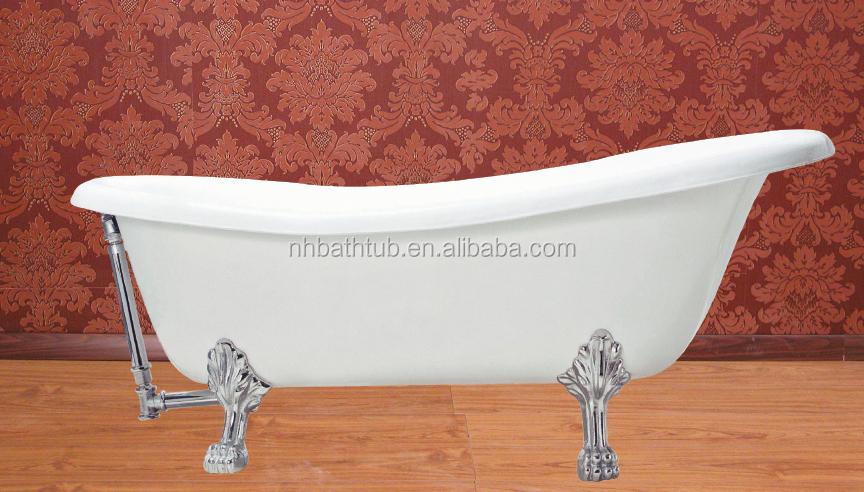 Comfortable slipper freestanding hot sale bath tubs cast for Freestanding tubs for sale