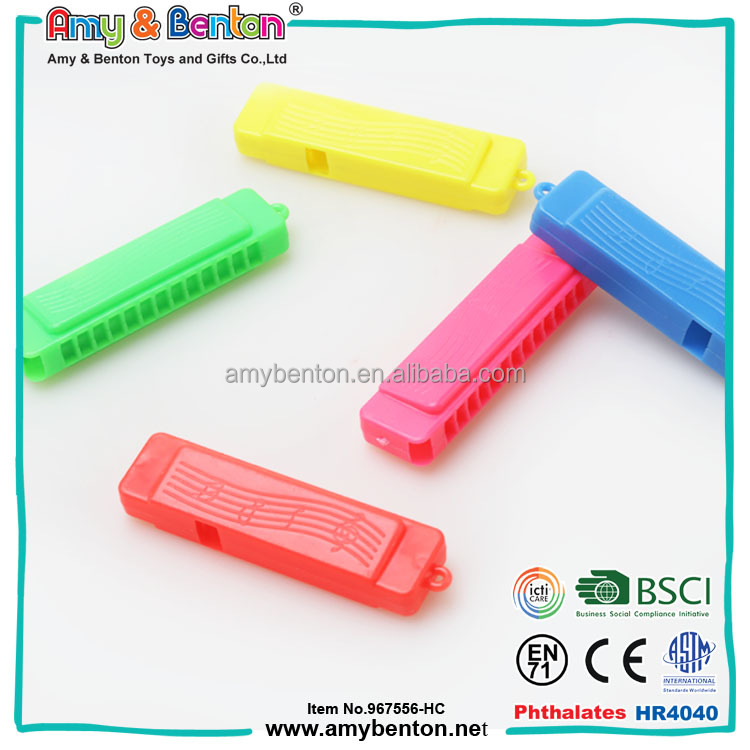 play value toys Colorful plastic bulk mini plastic harmonica music toy for sale