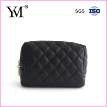 Fashion ladies classical black cosmetic quilted bag