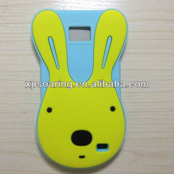 cute rabbit case cover for Samsung Galaxy S2