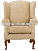 wholesale hotel furniture cheap price wing back fabric armchair