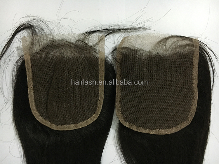 "SUPERIOR TOP QUALITY FACTORY SUPPLIED COMPETITIVE PRICES NATURAL COLOR BRAZILIAN VIRGIN CUTICLES HAIR 4""x4"" STOCK LACE CLOSURE"