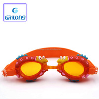 New Arrival Top Grade Animal Cartoon Kids Swimming Goggles frame removable