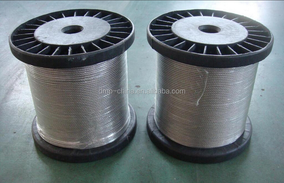 7x7-1.0mm AISI304 inox steel wire rope