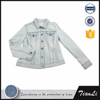 Chinese Custom Fashion Outdoor Spring Soft Shell Denim Jean Women Jacket