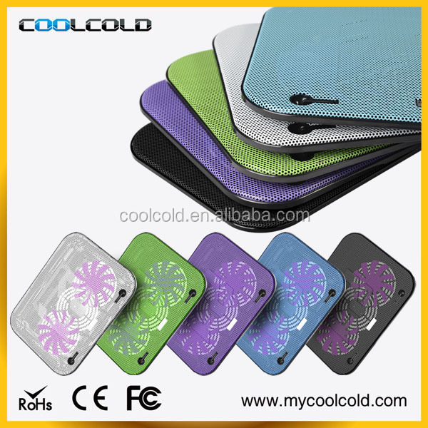Low price super slim notebook cooler pad,double fan heavy-duty laptop cooling pad