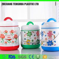 plastic lunch box with Stainless steel tank8202/fork and spoon in lid/thermos dinner box and breakfast box