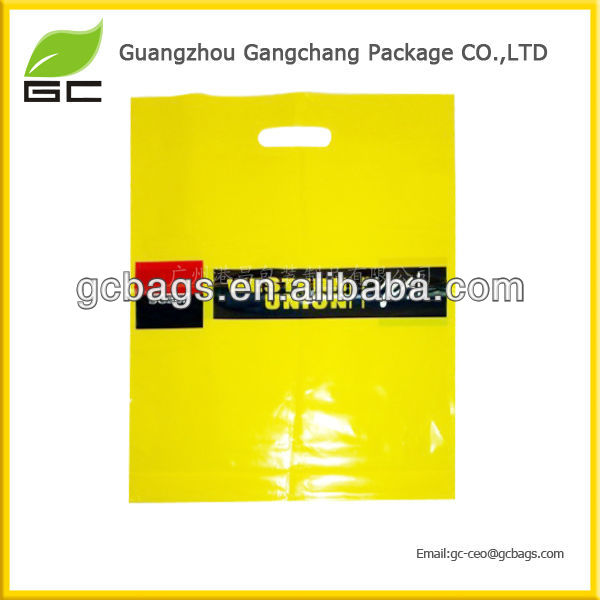 LDPE Material and Punch Style shopping plastic bags