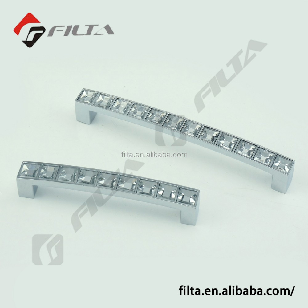 Factory Supply Diamond Crystal Shiny Pull Handle