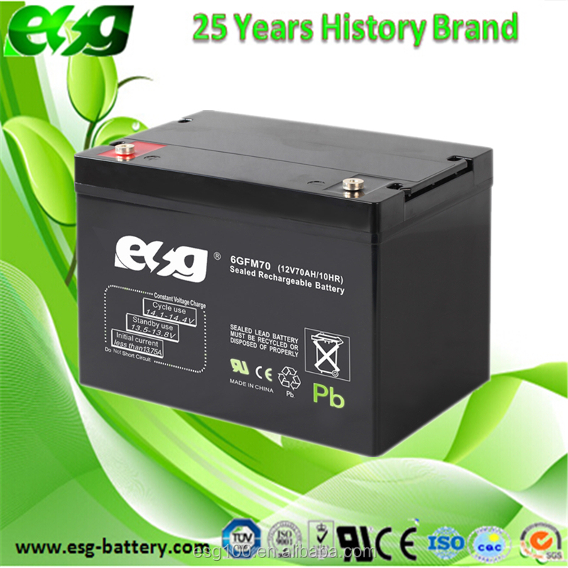 Rechargeable sealed lead acid battery 12V70AH agm batteries