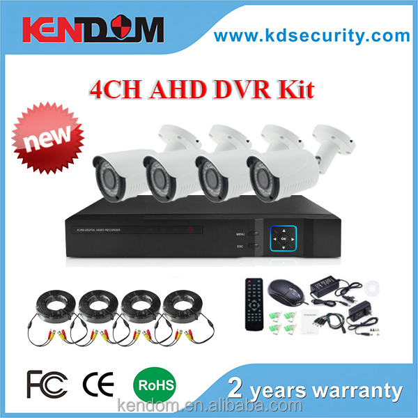 Kendom CCTV System New pattern AHD Kit 4CH with Analugue, AHD, IP Camera ahd dvr 1080p