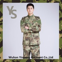 [Wuhan YinSong] camo plain polyester military clothing wholesale
