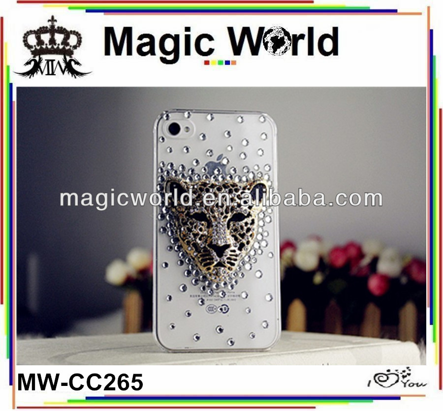 Leopard diamond for Iphone 5g case