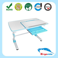 Synchronized adjustment for the height of table kids study table and chair children furniture set