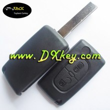 NO LOGO flip key shell with 2 button for citroen key cover citroen c4 remote key without battery holder