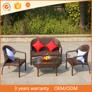 Leisure imitation rattan double sitting study room sofa outdoor elements patio furniture