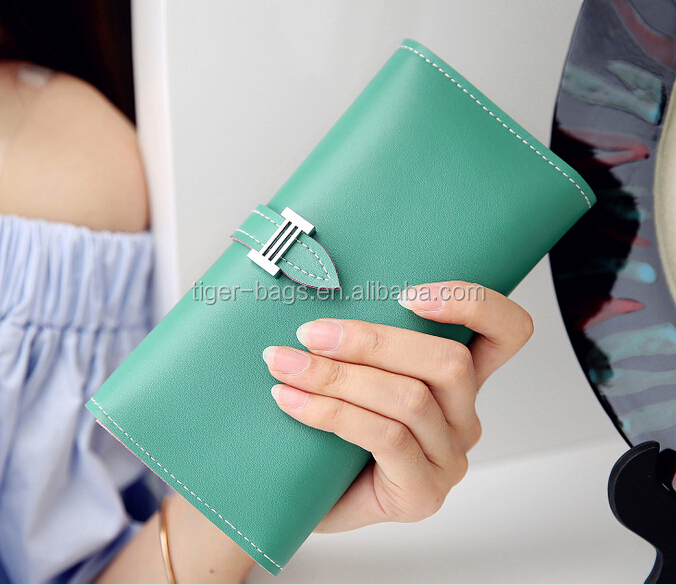 Alibaba Express Custom Colorful Leather Lady Wallet with Good Service