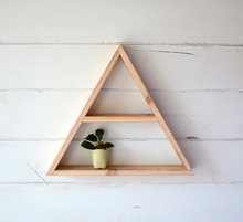 Large Reclaimed Wood Home Decor Triangle Shelf