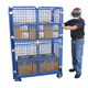 1100*800*1700mm RH-RC011-1 Insulated metal steel wire mesh cargo storage roll container Nestable roll containers
