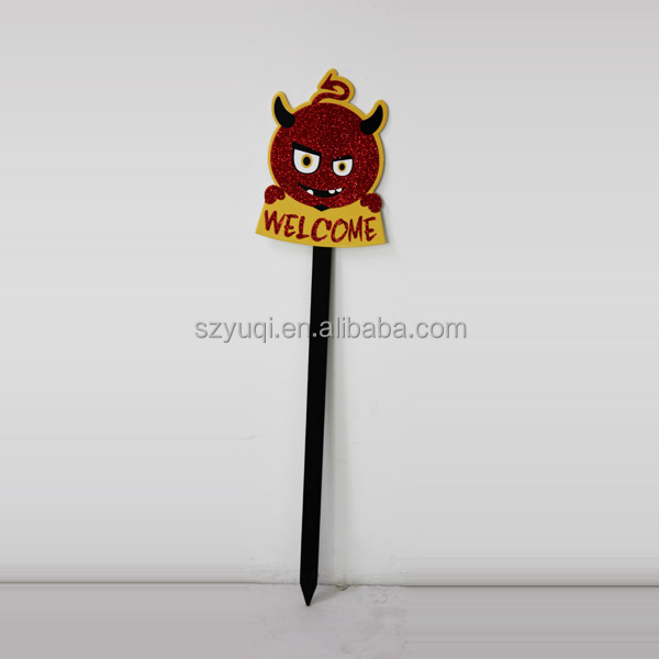Halloween Sign Yard Stake wooden decoration