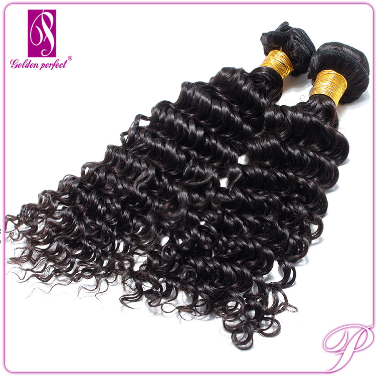 Alibaba China 14 Inch 2 Piece/Set Curly Wave, 100% Virgin Peruvian Remy Temple Hair