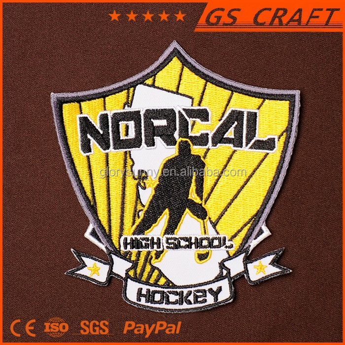 Machine embroidery designs shield woven badges