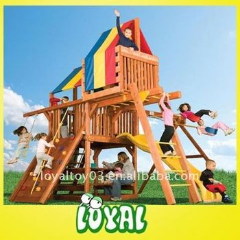 wooden swings sets