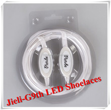 Jieli cheap led luminescent nylon waterproof flashing shoelace