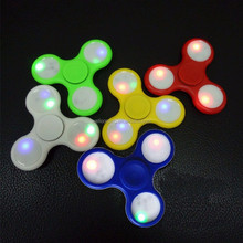 Pre-order!New private mould aluminum light spinner toy Adult fidget toys flashing led hand spinner