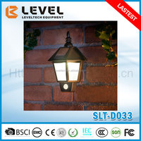 Solar Powered 3pcs Super Brightness LED Outdoor Garden Fence Wall Lantern Lamp With PIR Sesnor
