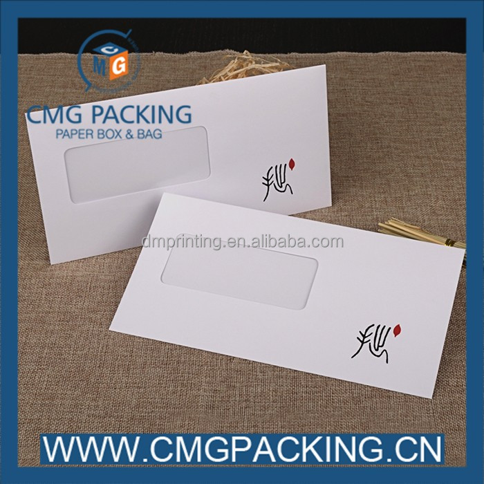 Fancy paper pvc window envelope for packaging gift