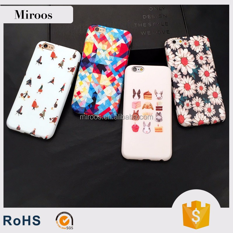Customized IMD TPU case for apple iphone 7 with cute grafics