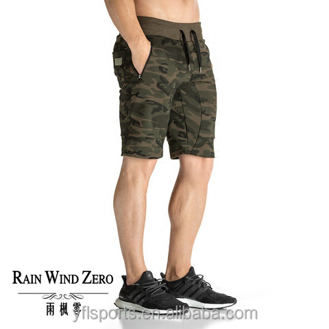 Wholesale hot fashion cargo gym wear camouflage shorts pants for men